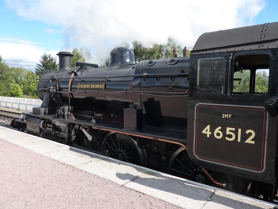 Steam Train, Transportation, Railway, Engine, Platform