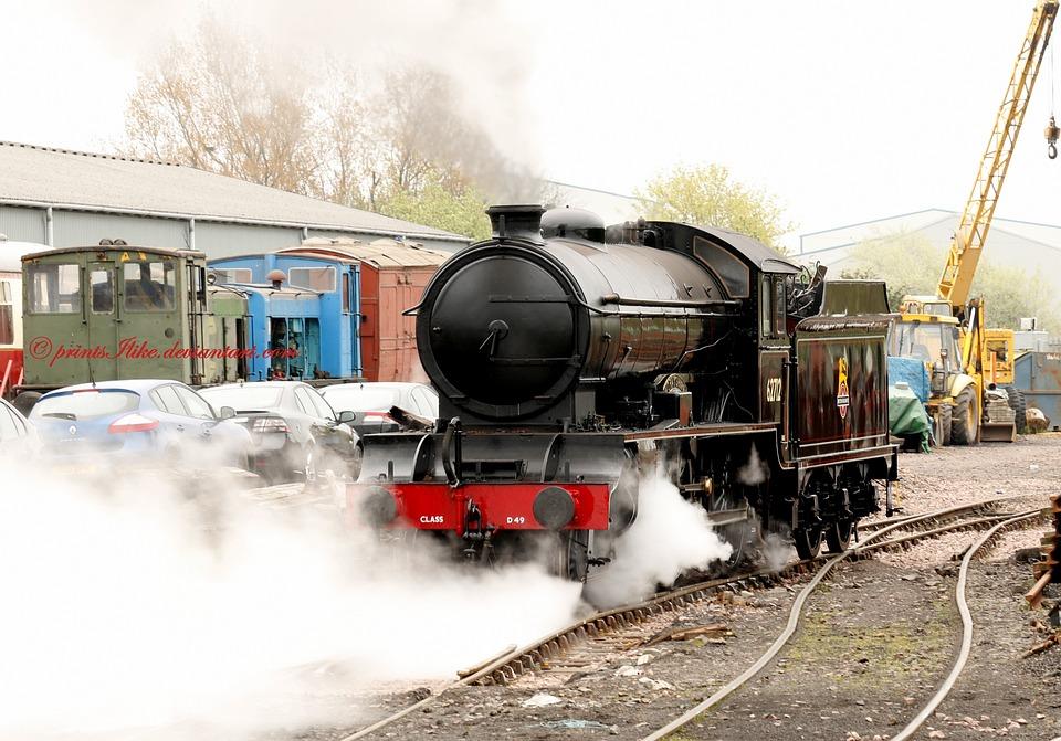 Train, Engine, Steam, Rail, Railway, Transport