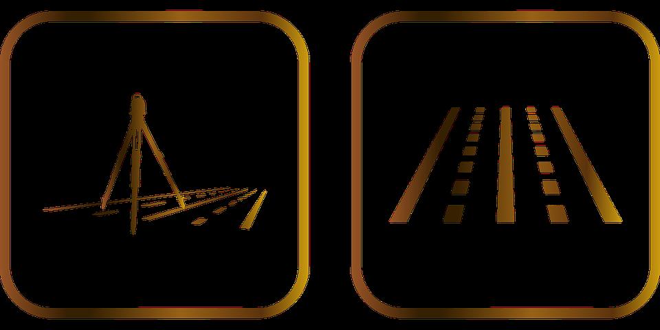 Road, Engineering, Construction, Surveying, Icon