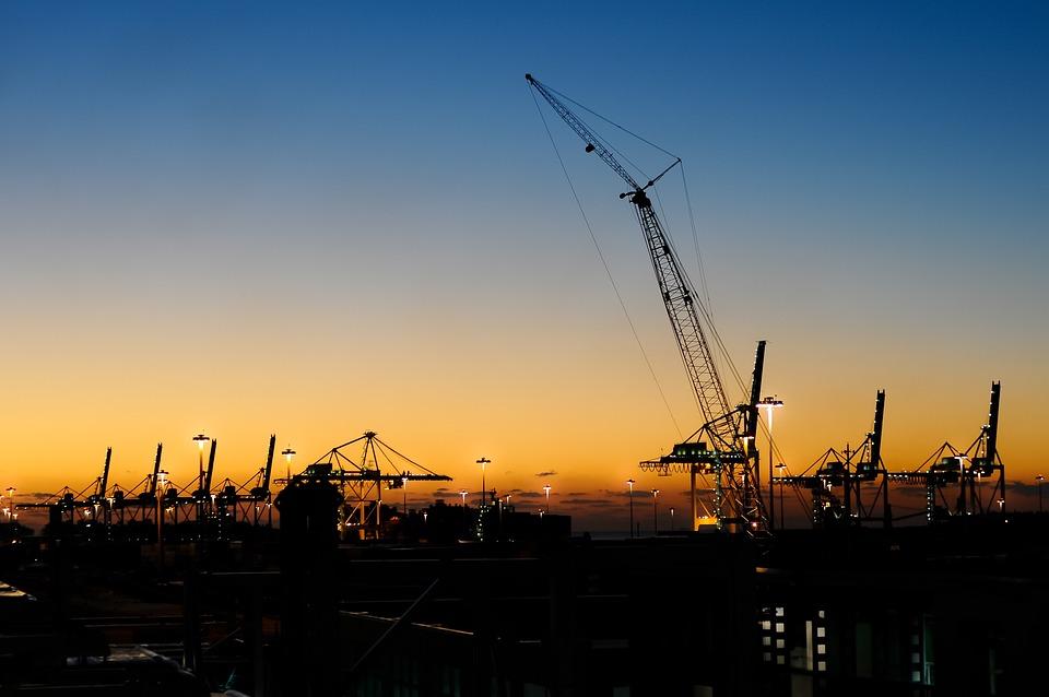 Industry, Cranes, Harbor, Port, Work, Engineering