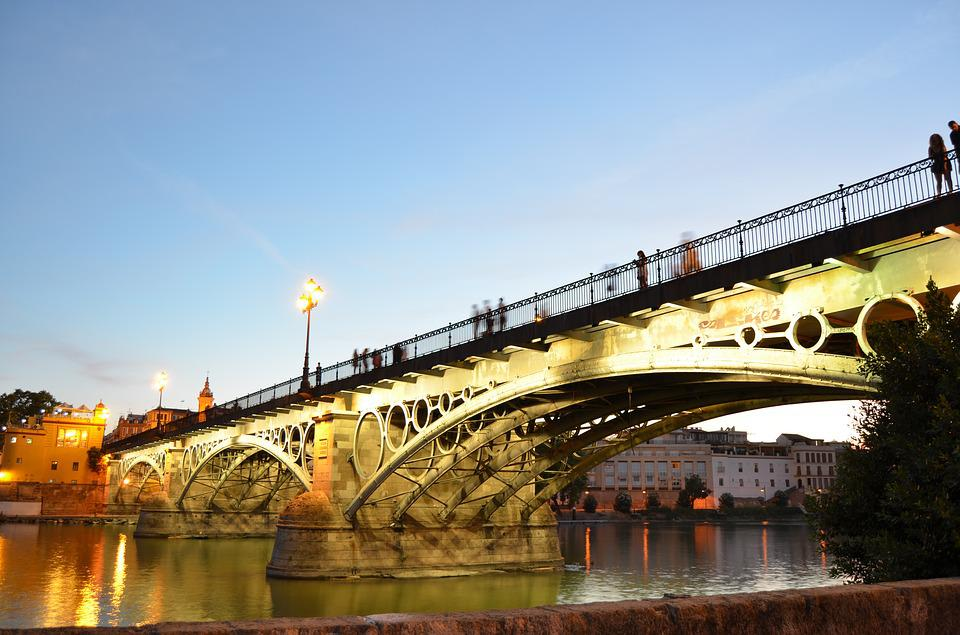 Bridge, Triana, Spain, River, Engineering