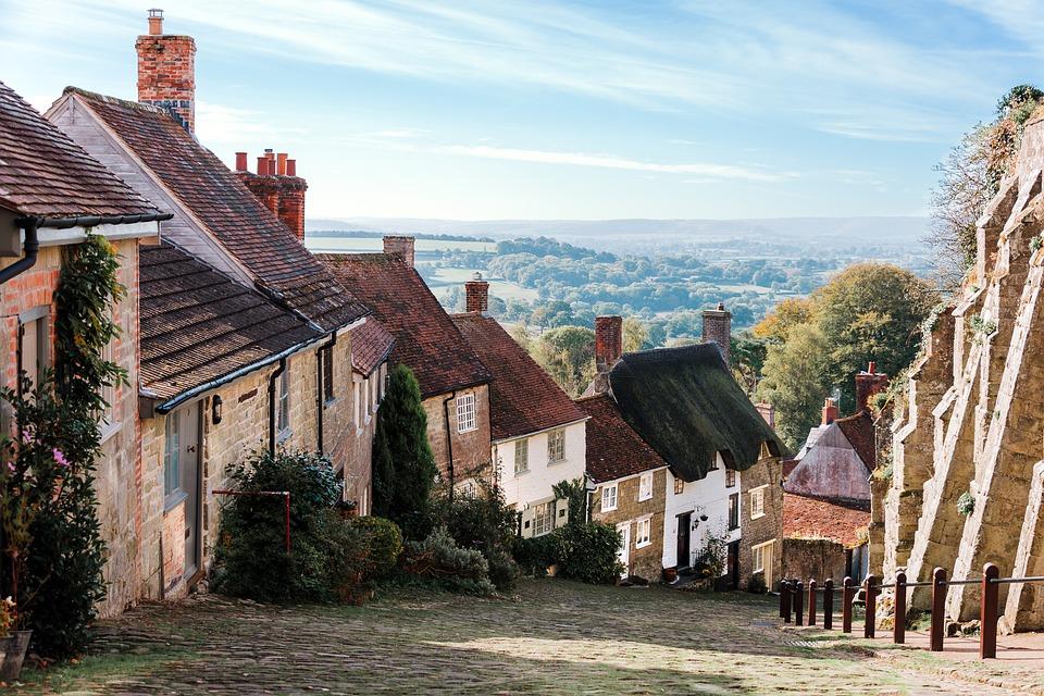 England, Uk, Britain, Landscape, Travel, Gold Hill