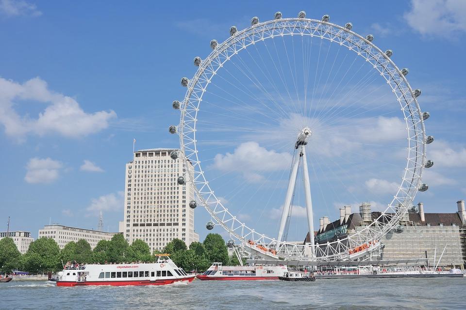 Londoneye, London, England, Wheel, River, Themse