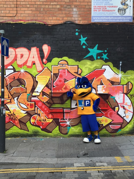 Nosey Parker, Liverpool, Grafitti, England, Car Park