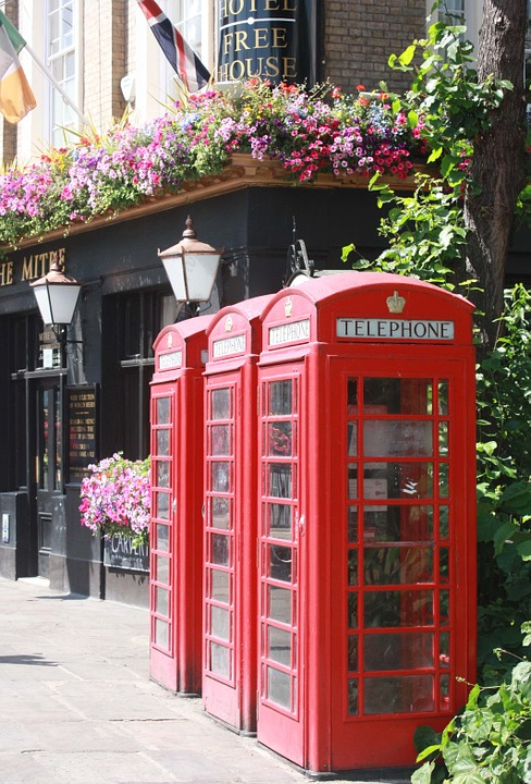 London, Phone, Telephone Booth, Red, England