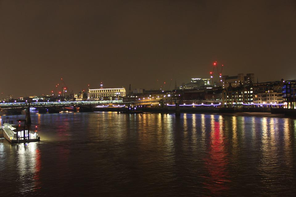 Thames, Reflection, River, London, England