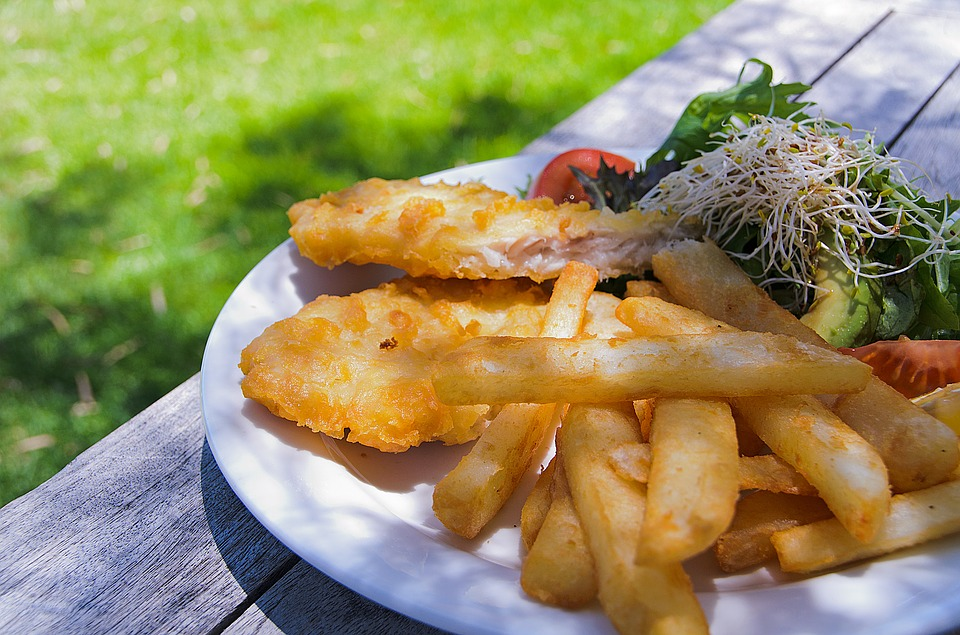 Fish, Chips, Food, Dinner, Fried, Seafood, English