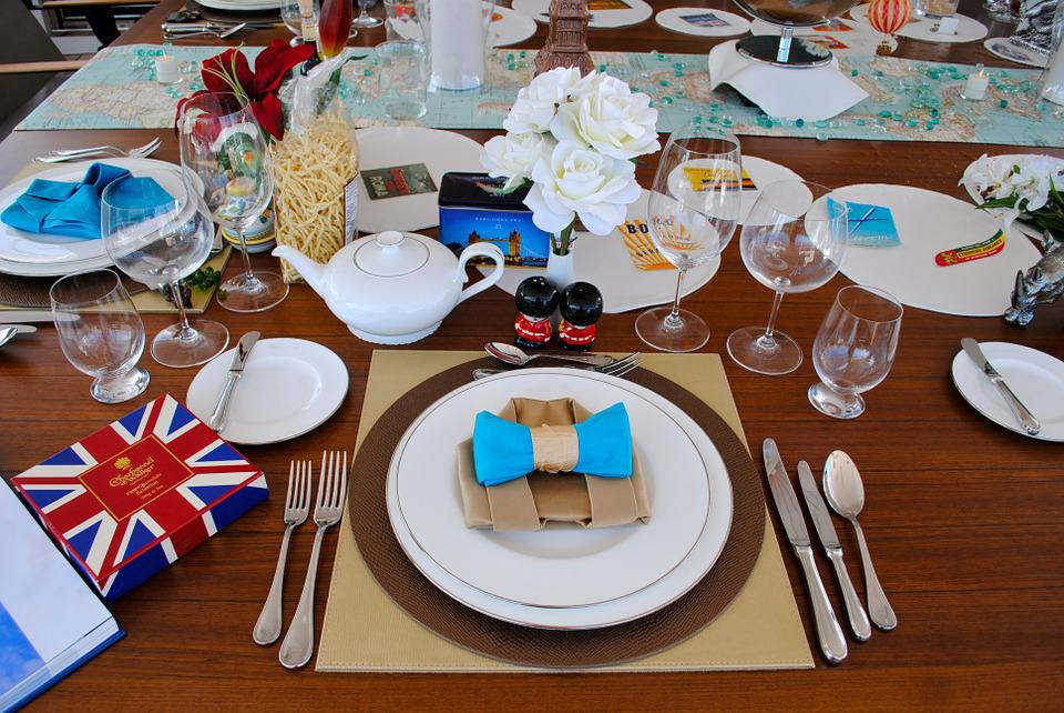 Free photo English Tea Dine Place Setting Britain Roses Max Pixel