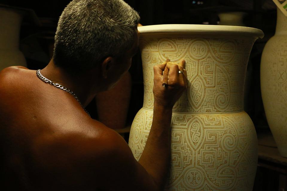 Man, Hand, Design, Artist, Ceramics, Pottery, Engraving