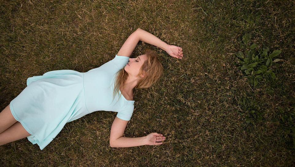On The Grass, Lawn, Dreams, Resting, Thought, Enjoy