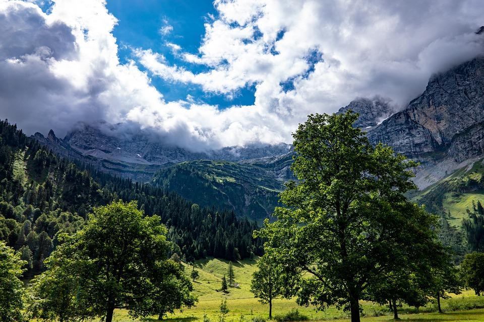 Alpine, Mountains, Clouds, Cloud Mood, Enormous, Nature