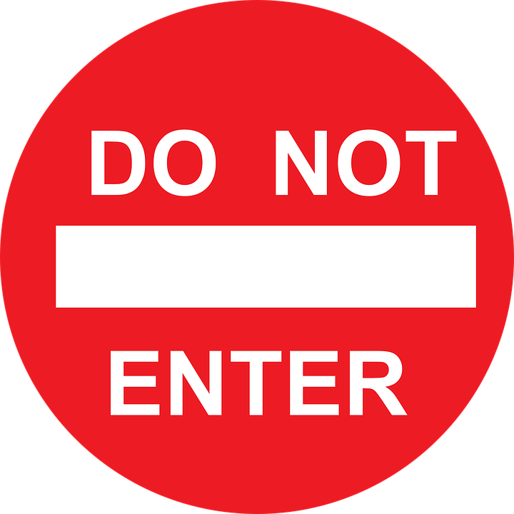 Enter, Not, Road, Instruction, Drive, Traffic, Rule