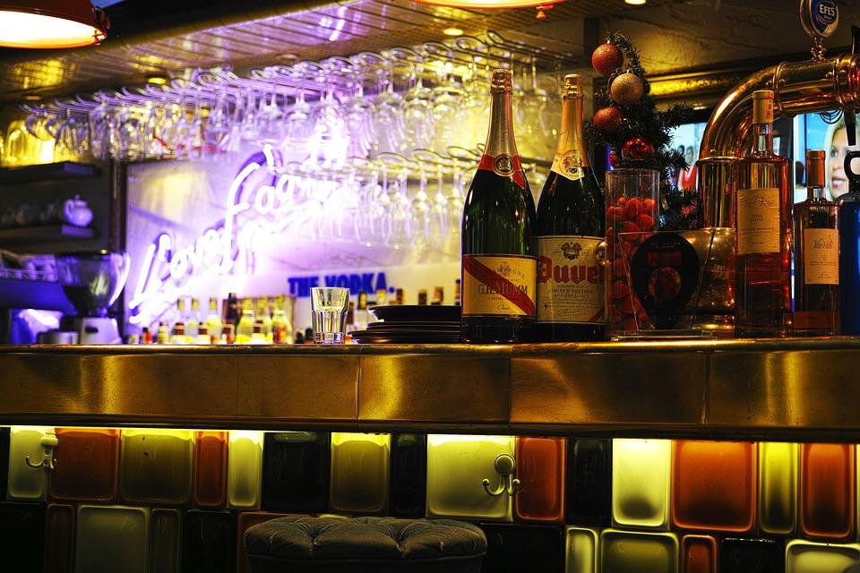 Bar, The Drink, Entertainment, Bottle, Glass, Light