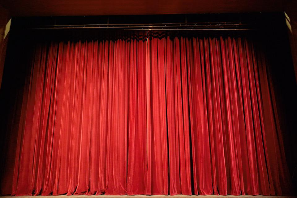 Theater, Curtain, Stage, Red, Event, Act, Entertainment