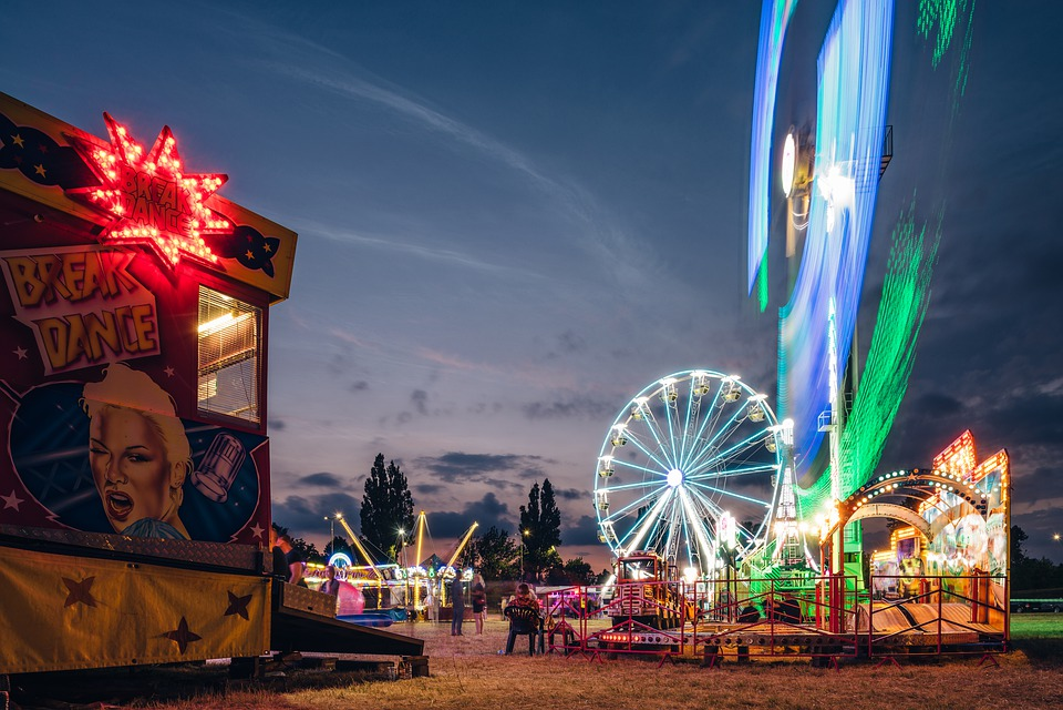 Amusement Park, Ferris Wheel, Entertainment, Fun