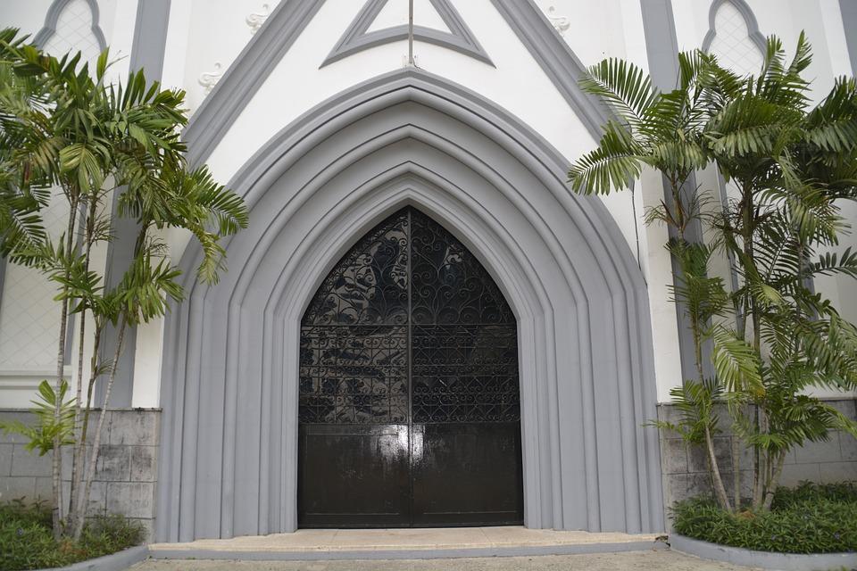 Church, Doors, Old, Entrance, Arch, Panama