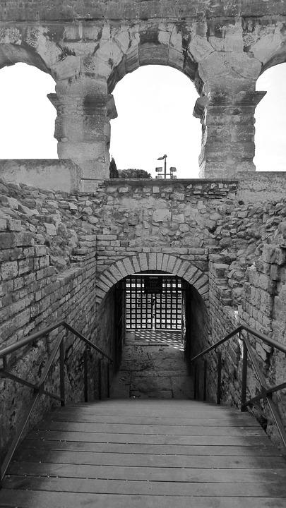 Gate, Ruin, Stone, Entrance, Architecture, Historic