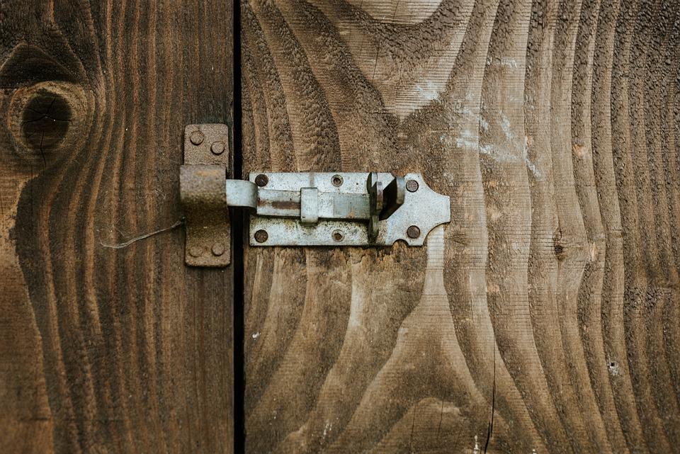 The Door, Old, Entrance, Bar, Castle, By Wlodek, Lock