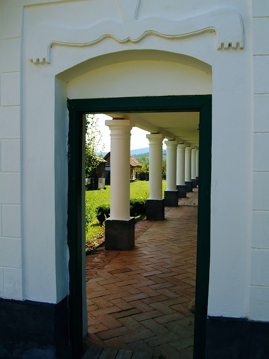 Door, Pillar, Architecture, Entrance, Old, Front, Wall