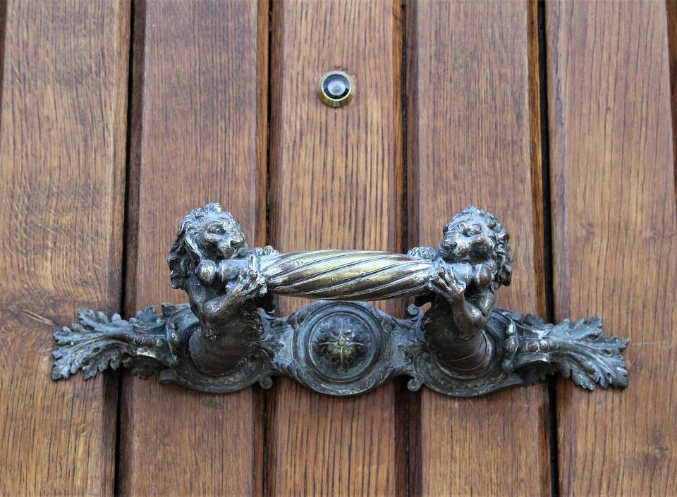 Wood, Door, Wooden, Entrance, Lock, Doorknob, Handle