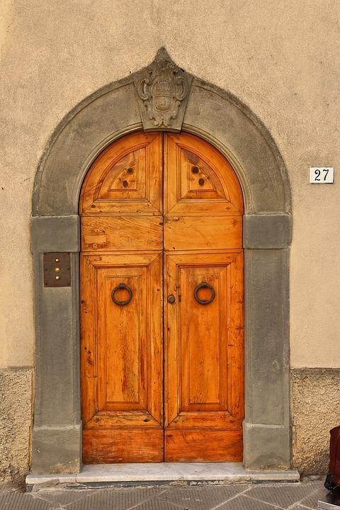 Door, Italy, Architecture, Entrance, Old, Italian, Wall