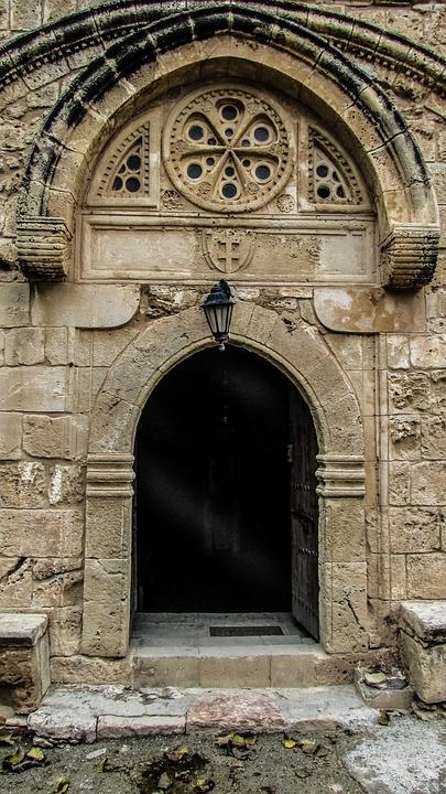 Cyprus, Ayia Napa, Monastery, Medieval, Entrance, Door