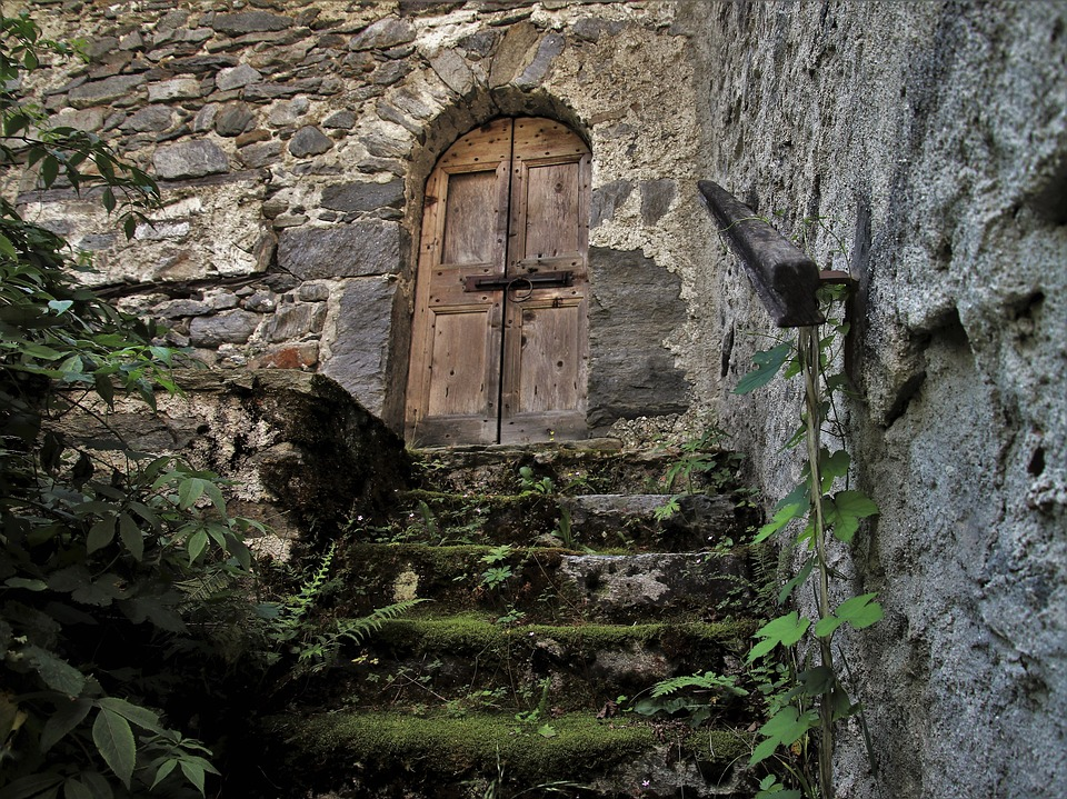 Entrance, Stairs, The Door, Old House, Expired