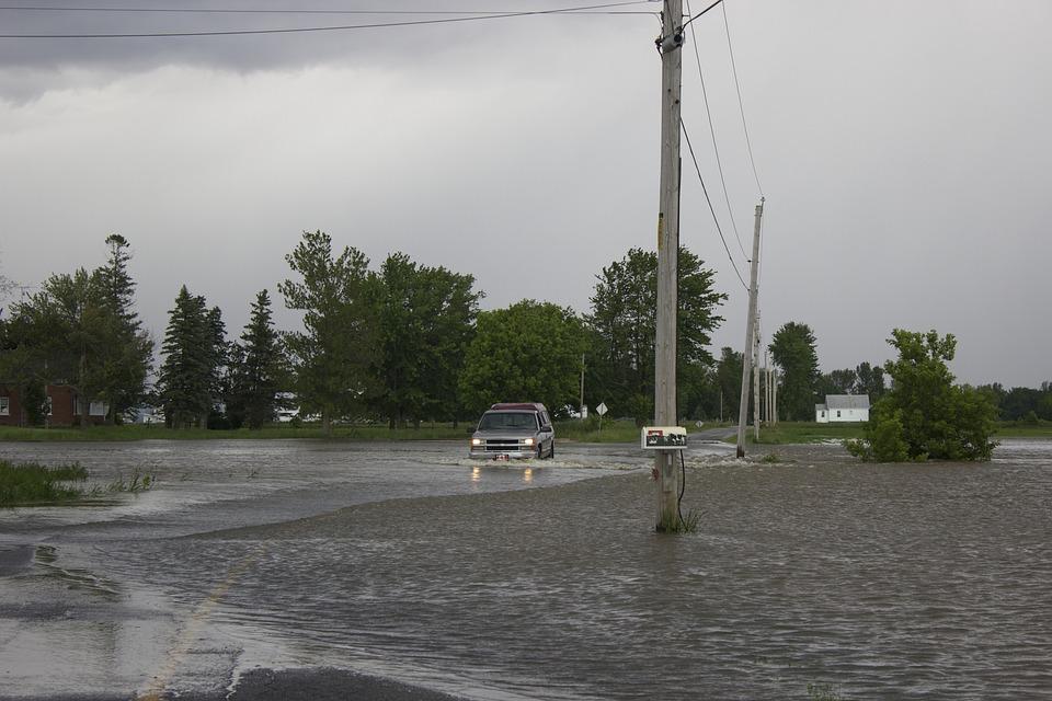 Water, Flood, Flooded, Environment, Underwater, Truck