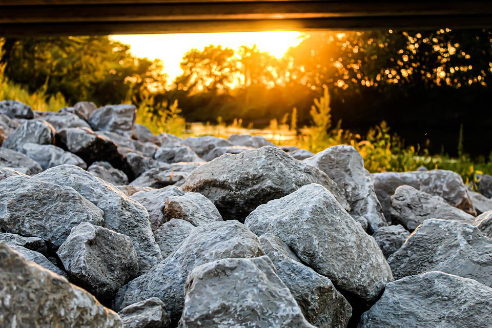 Rocks, Sunset, Sun, Landscape, Sky, Nature, Epic