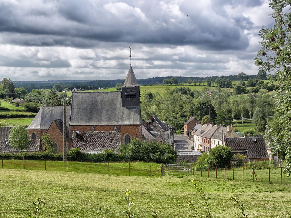 Eppe-sauvage, France, Landscape, Scenic, Summer, Trees