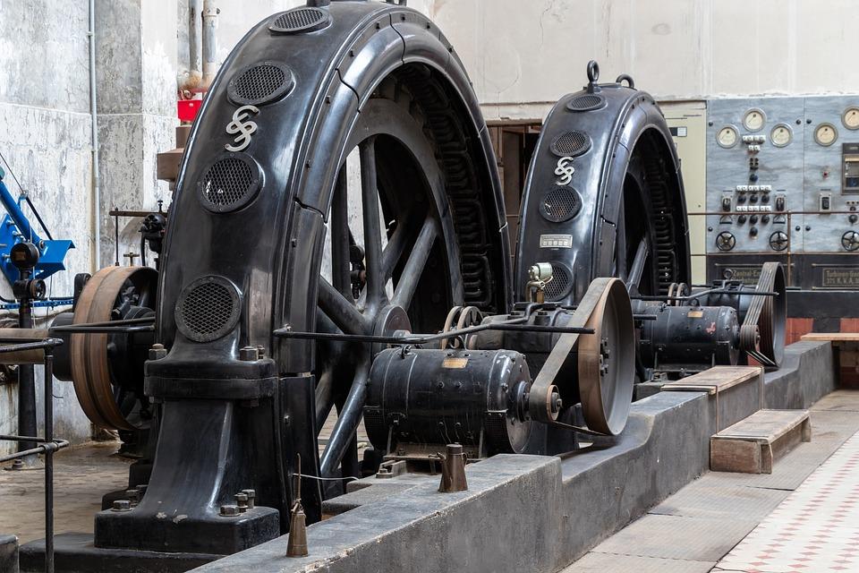 Machine, Wheel, Old, Equipment, Industry, Power Plant