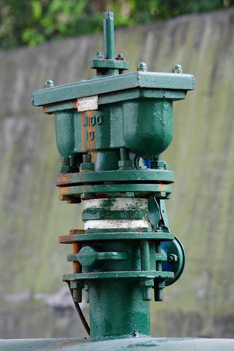 Pipeline, Metal, Equipment, Valve, Green