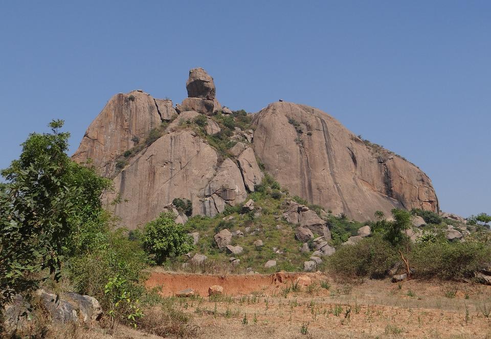 Rock Formation, Hillock, Granite, Erosion, Boulders