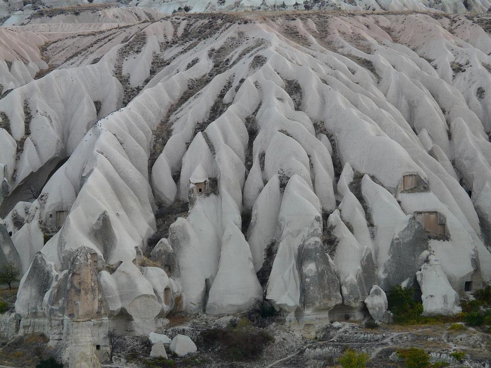 Tufa Landscape, Rock Formations, Erosion, Washed Out