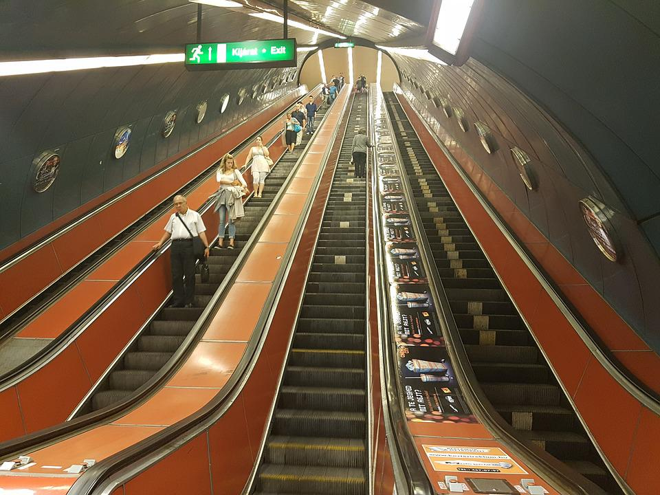 Escalator, Stairs, Metro, Underground, Handrails