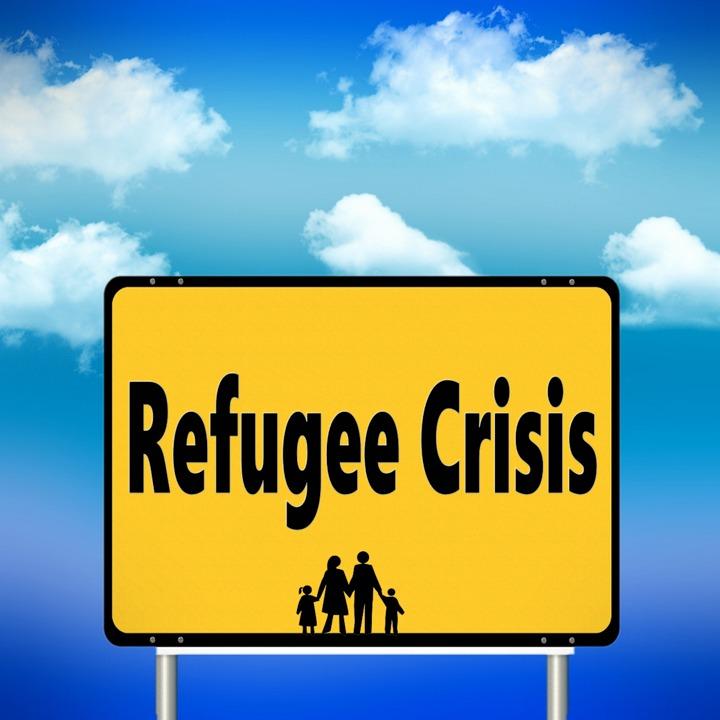 Shield, Sky, Human, Group, Refugees, Help, Escape