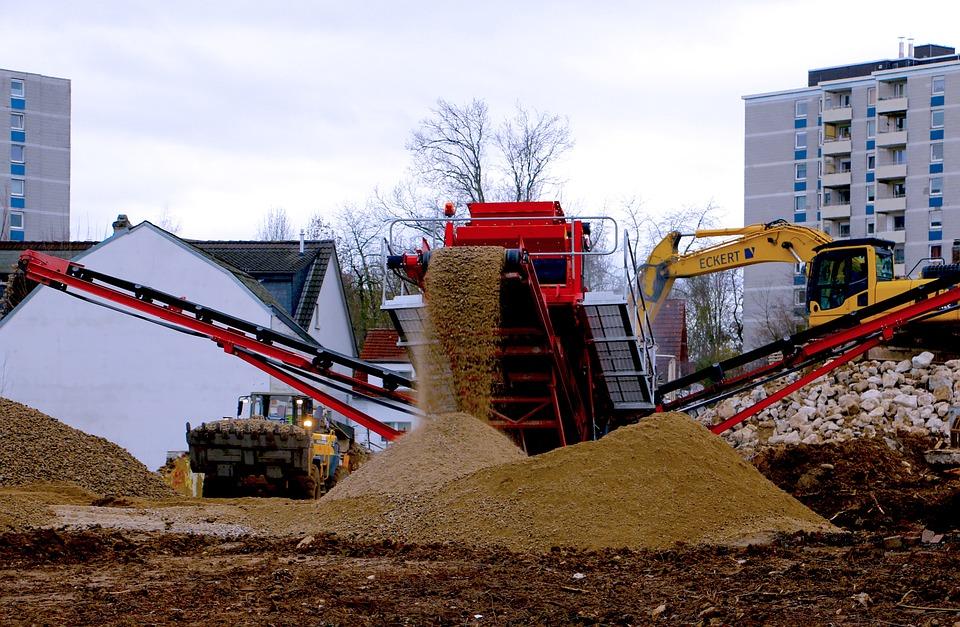 Site, Eschborn, Excavators, Build, Construction