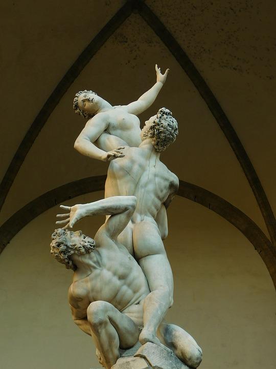 Sabinas, Rapto, Giambologna, Florencia, Escultura