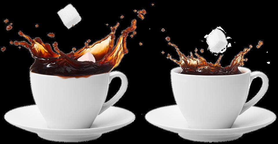 Cup Of Coffee, Sugar, Cup, Saucer, Espresso, Porcelain