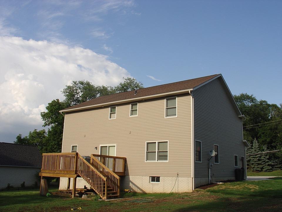 House, Yard, Deck, Estate, Home, Dwelling