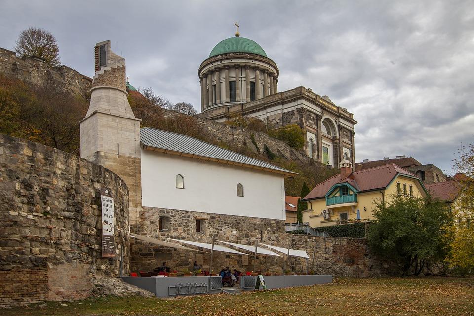 Esztergom, Autumn, Mosque, Basilica, Mood