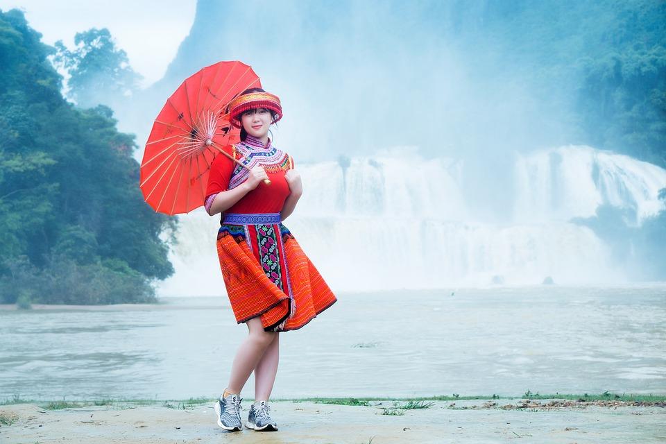 Stream, Water, Beautiful Woman, Ethnic Girl