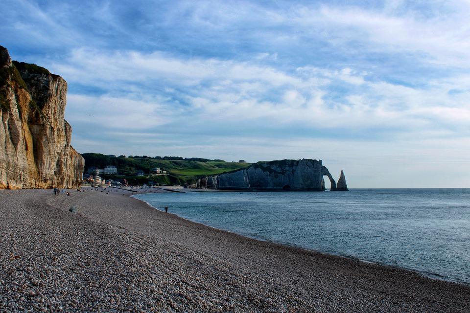 Etretat, Sea, France, Normandy, Vacations, Travel, Port