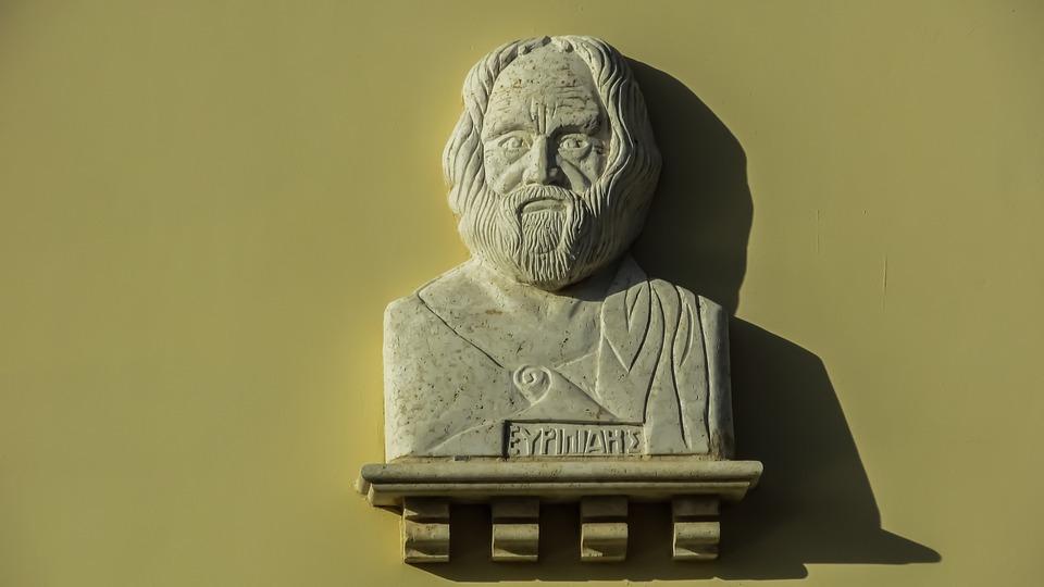 Euripides, Tragedian, Portrait, Bust, Greek, Classical