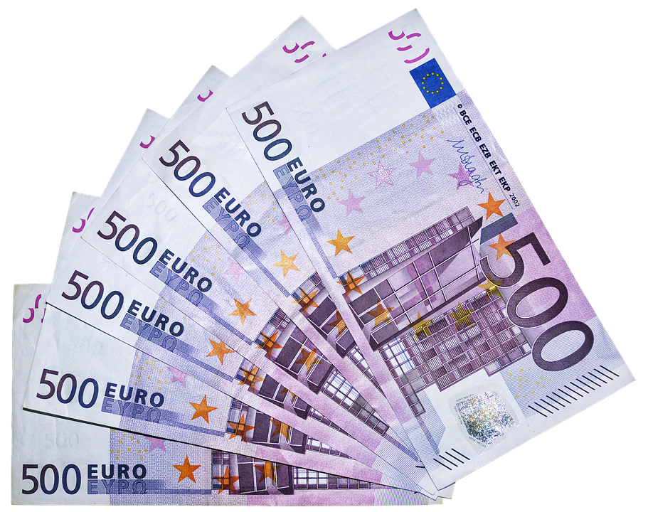 Euro, Money, Bills, 500 Euro, Currency, Paper Money