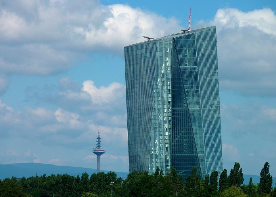 Ecb, Bank, Euro, Skyscrapers, Frankfurt, Skyscraper