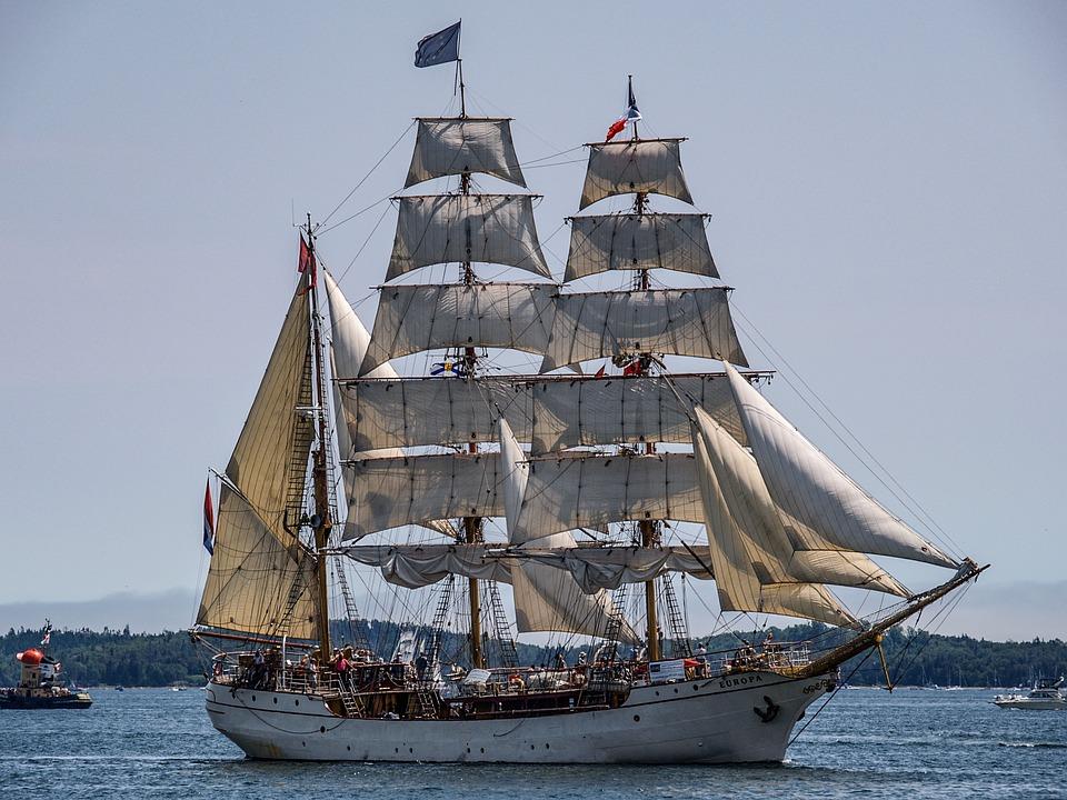 Tall Ships, Europa, Nova Scotia, Canada, Ocean
