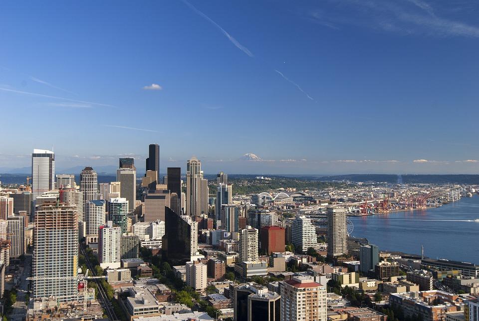 City, Sky, Bay, Blue Sky, Europe And America