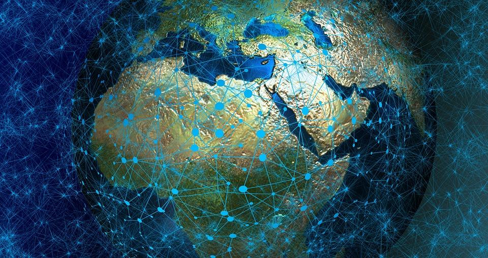 System, Web, Network, Globe, Europe, Africa, Asia