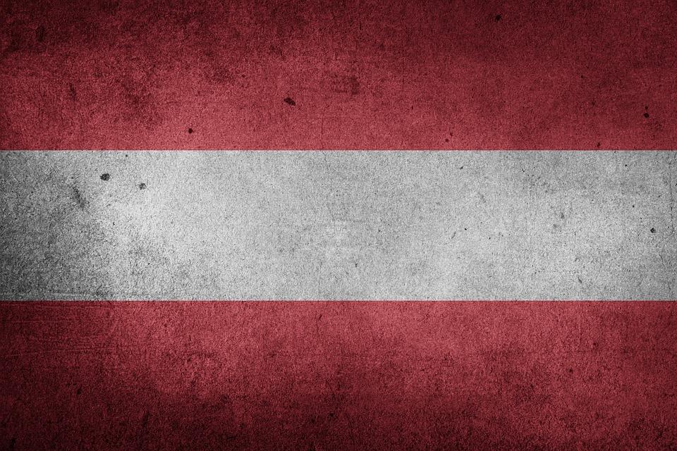Austria, Europe, National Flag, Flag, Grunge